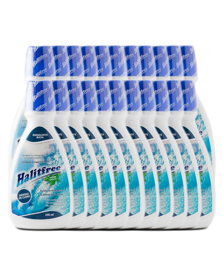 COMBO 24 Unidades - Halitfree 250ml - Enxaguante bucal sabor menta