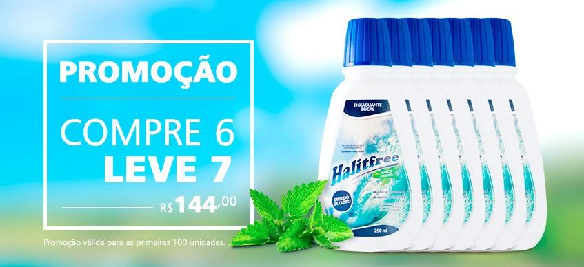 COMPRE 6 e LEVE 7 -  Halitfree 250ml - Enxaguante bucal sabor menta