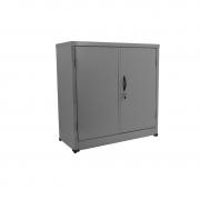 Armário de aço CA 940 com 2 portas cinza chapa 26