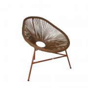 Cadeira Acapulco com estrutura na cor bronze