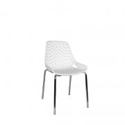 Cadeira base Fixa Cromada Beau Design plástica PP
