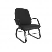 Cadeira diretor Bigger com base e braços fixos