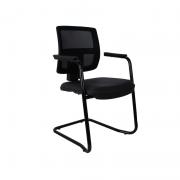 Cadeira base fixa executiva Brizza Tela pé contínuo com braço