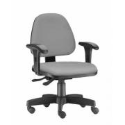 Cadeira diretor giratória Sky braço regulável e Backsystem aço capa