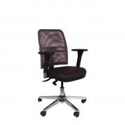 Cadeira executiva NewNet 16003 Back System braço 3D e base cromada