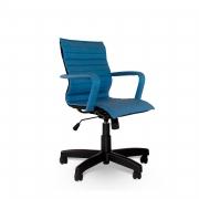 Cadeira giratória aço capa executiva itallian