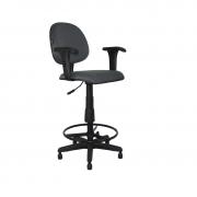 Cadeira giratória caixa executiva Mix com lâmina com braço regulável