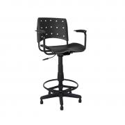 Cadeira giratória caixa secretária Ergoplax Mais com braço