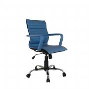 Cadeira giratória cromada executiva itallian