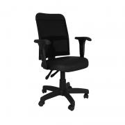 Cadeira giratória executiva back system Tela STF com braço