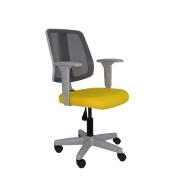 Cadeira giratória executiva Flip Light Tela 43503 base cinza