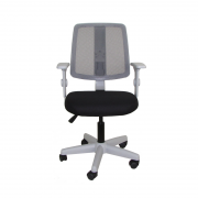 Cadeira giratória executiva Flip Tela 43503 base cinza