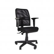 Cadeira giratória executiva NewNet 16003 SRE braço regulável rod PU