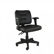 Cadeira giratória executiva Rani com BackSystem e braço regulável