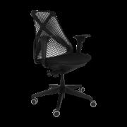 Cadeira giratória presidente Bix Tela com autocompensador, Slider e braço 3D