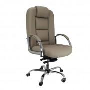 Cadeira giratória presidente Florença cromada com sincronizado