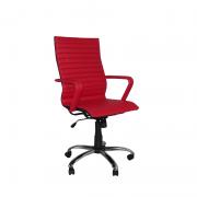 Cadeira Giratória Presidente Itallian  com estrela Cromada