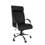 Cadeira giratória presidente Master com Relax e braço cromado