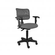 Cadeira giratória secretária back system Tela com braço