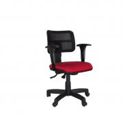 Cadeira giratória Zip Tela com back system e braço regulável