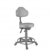 Cadeira mocho giratória com Back System base cinza