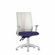 Cadeira presidente giratória Addit Tela braço regulável e Backsystem aço capa