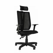 Cadeira Presidente giratória Addit Tela com apoio de cabeça e Back System
