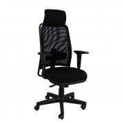Cadeira presidente NewNet 16001 AC com sincronizado braço SL e apoio de cabeça