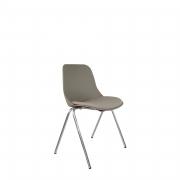 Cadeira Quick Secretária Cromada com 4 pés e assento em Poliéster