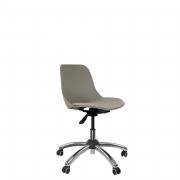 Cadeira secretária cromada estrela com rodízio e assento em poliéster
