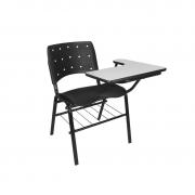 Cadeira universitária Ergoplax com pranchetão esquerda