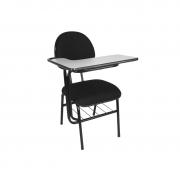 Cadeira universitária executiva Mix com pranchetão direita