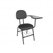Cadeira universitária secretária Plus com prancheta esquerda