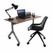 Conjunto Home Office Mesa Rebatível e Cadeira Beau giratória