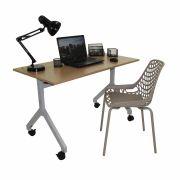 Conjunto Home Office Mesa Rebatível e Cadeira Beau fixo