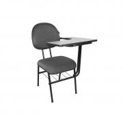 Cadeira universitária executiva Mix com pranchetão esquerda