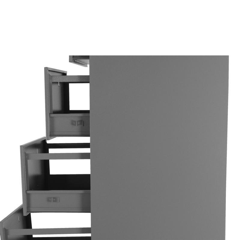 Arquivo de aço OF 4  curto cinza chapa 24