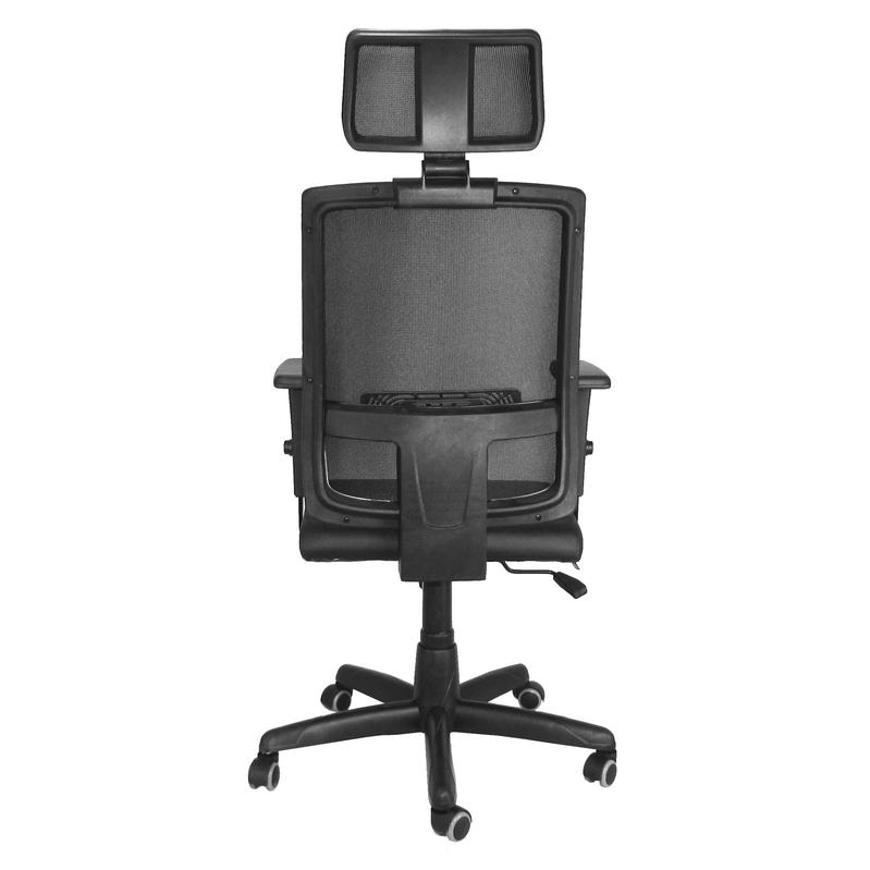 Cadeira giratória presidente Brizza Tela com Relax, braço 3D e apoio para cabeça