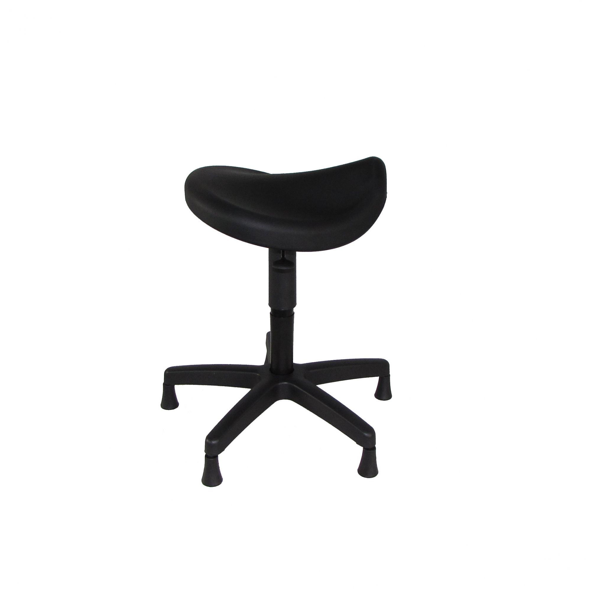 Cadeira Sela com Assento em PU e Pistão Industrial com Sapata