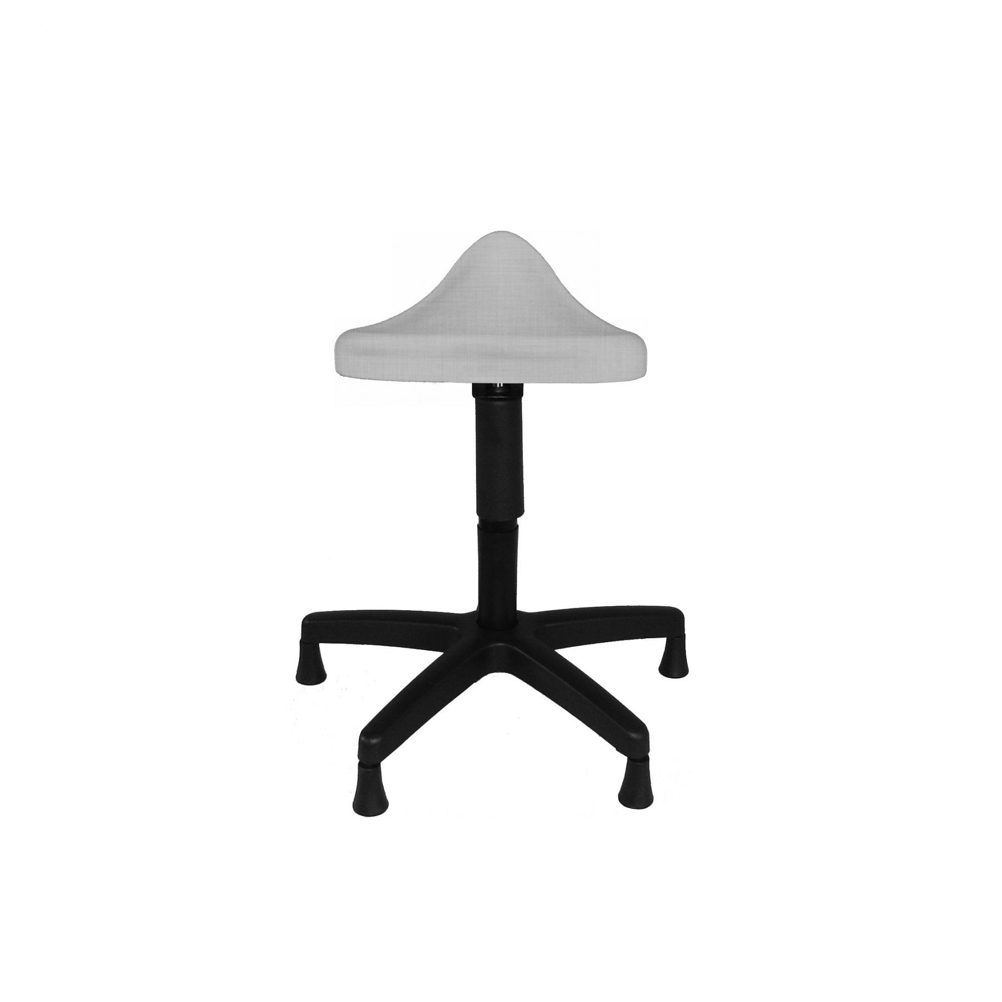 Cadeira Sela com Pistão industrial, sapata e revestimento no Prata Perolizado