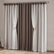 Cortina Mabelle Semi Blackout 3,00m x 2,50m - Tabaco