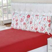 Jogo de Lençol King Malha 100% Algodão 3 Peças - Flamingo