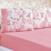 Jogo de Lençol Solteiro 200 Fios 2 peças Naturalle - Serene Rosa