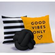 Kit Almofadas Good Vibes 3 peças - Amarelo
