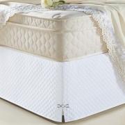 Saia Para Cama Box Queen Size Veneza Branco