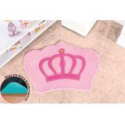 Tapete Infantil Coroa Rosa 86cm x 64cm - 1 Peça