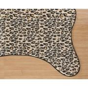 Tapete para Sala e Quarto Safari Leopardo Caçador Pelúcia 1,25m x 1,18m