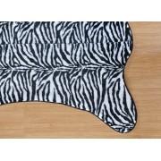 Tapete para Sala e Quarto Safari Zebra Caçador Pelúcia 1,25m x 1,18m