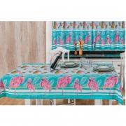 Toalha de Mesa 1,50m x 1,40m Estampada 1 peça - Flamingo
