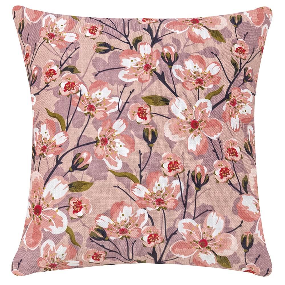 Capa para Almofada Estampada Fascínio 45cm x 45cm - Rosê Floral